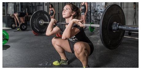 Gewichtheffen vrouw